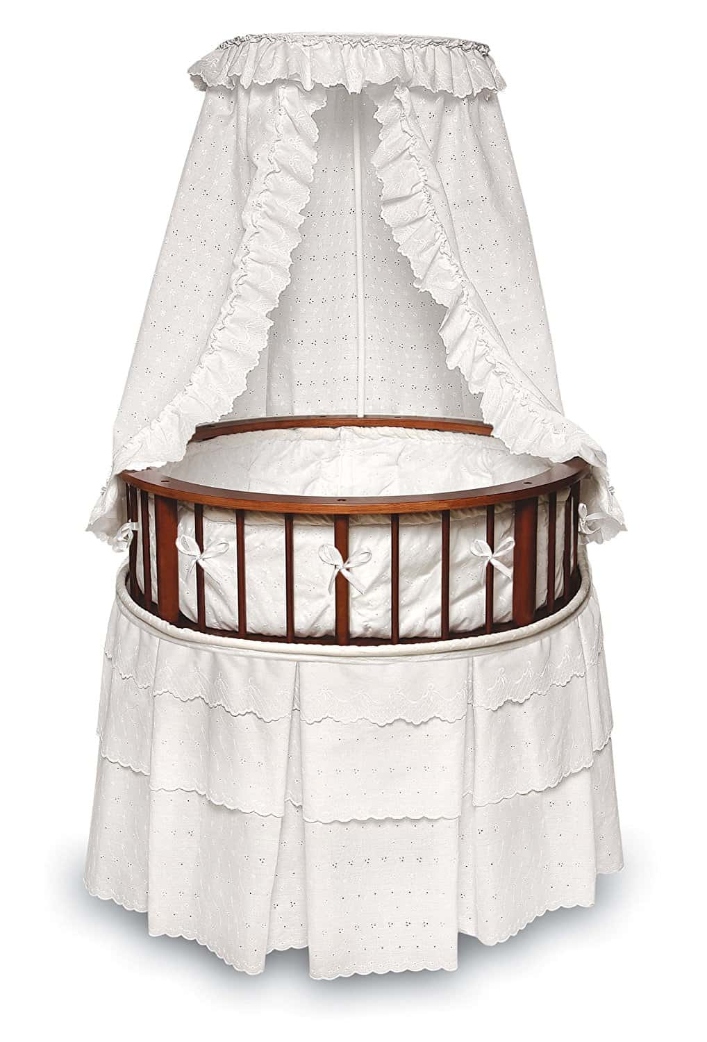 Badger Basket Elegance Round Baby Bassinet