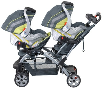 Baby-Trend-Double-Sit-N-Stand-with-car-seats