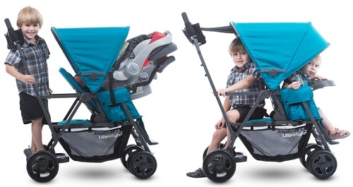 Joovy-Caboose-Ultralight-Graphite-Stroller-with-car-seat