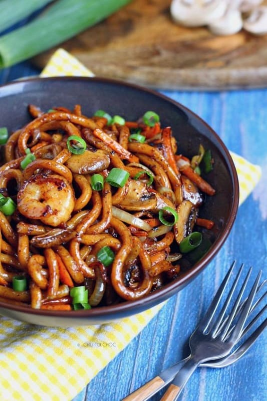 Foods That Start With U, yaki Udon, the lot dallas