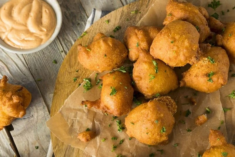 food that starts with H, the lot dallas, Hush puppy