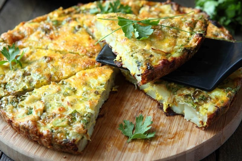 Food that starts with F, the lot dallas, Frittata